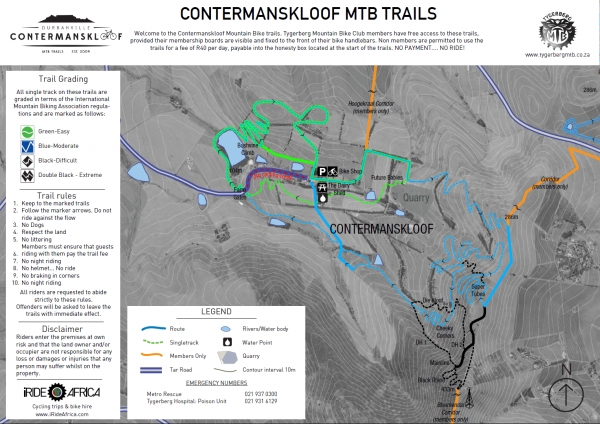 Contermanskloof MTB Map
