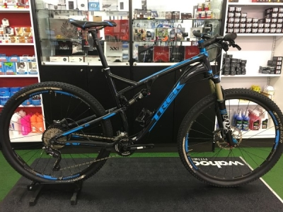 Pre-owned TREK Superfly 100 Dual Blue & Black